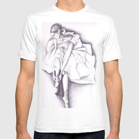 Ballet Dancer Mens Fitted Tee White SMALL