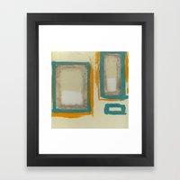 Soft And Bold Rothko Ins… Framed Art Print