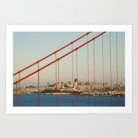 Golden San Gate Francisc… Art Print