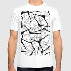 Hangle Tangle Mens Fitted Tee White SMALL