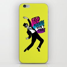 He Don't Care iPhone & iPod Skin