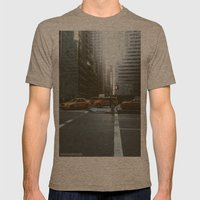 Streets Of NYC Mens Fitted Tee Tri-Coffee SMALL