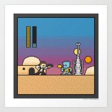 Mega Boss Battles - Han vs. Greedo Art Print