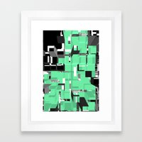 Digital Squares Framed Art Print