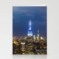 new york city Stationery Cards featuring New York City, New York by Stuart Saunders