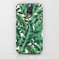iPhone & iPod Case featuring Tropical Glam Banana Lea… by Nikki