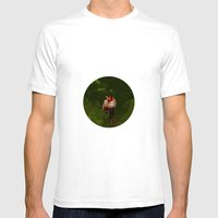 FOX IN A COOL GREEN WORL… Mens Fitted Tee White SMALL