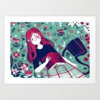 Flowe Bed Art Print