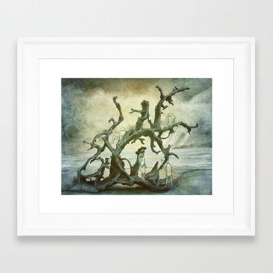 Spirits of the Driftwood Framed Art Print