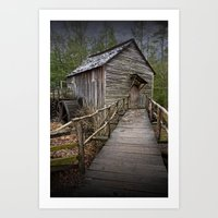 The John Cable Gristmill in Cade's Cove Art Print