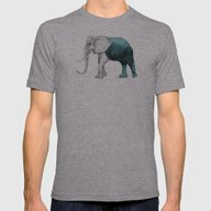 The Stone Elephant Mens Fitted Tee Athletic Grey SMALL