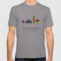 Winnie-The-Pooh Mens Fitted Tee Athletic Grey SMALL