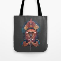 Red Fire Monkey Tote Bag