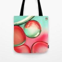 Oil Drops In Blush & Blu… Tote Bag