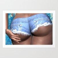 Short Shorts Art Print