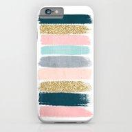 Zara - Brushstroke Glitt… iPhone 6 Slim Case
