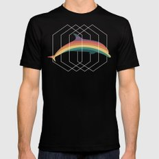 Calico Dolphin Black SMALL Mens Fitted Tee