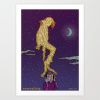 Moonwalking Art Print