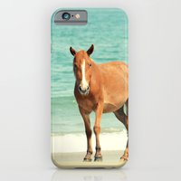 iPhone & iPod Case featuring Wild Mustang of Carova, NC by RDelean