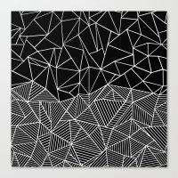 Ab Half and Half Black Canvas Print