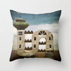Seaside Living Throw Pillow