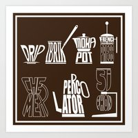 TYPOCOFFEE Art Print