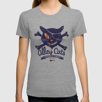 Alley Cats Womens Fitted Tee Tri-Grey SMALL