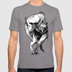 The Werewolf Mens Fitted Tee Tri-Grey SMALL