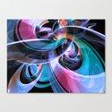 Abstract Reflecting Rings Canvas Print