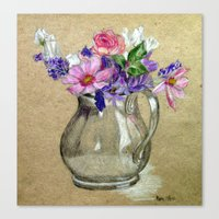 Canvas Print featuring Metallic vase by Marie S. Rasmussen