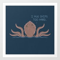 Monster Issues - Kraken Art Print