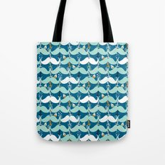 Mustache Waves Tote Bag