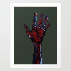 Hand of Death Art Print