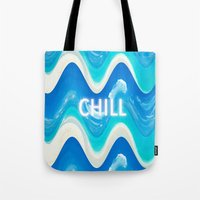 CHILL BEACH WAVE Tote Bag