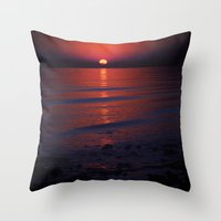 Throw Pillow featuring Ending Colors by Karol Livote