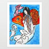 The Sea King's Daughter Art Print