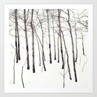 Walk In The White Lightn… Art Print