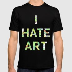 I HATE ART Mens Fitted Tee Black SMALL