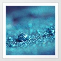 Blue Drop Art Print