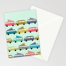 geo campers mint Stationery Cards