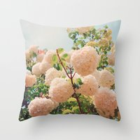 Puffy flowers! Throw Pillow