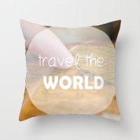 Travel The World Throw Pillow