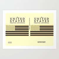 The United States Travel Journal Poster Art Print