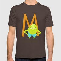 M is for Mad Mens Fitted Tee Brown SMALL
