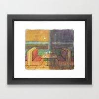 Diner Days, Diner Nights Framed Art Print