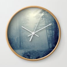 Wander in a Woodland Fog Wall Clock