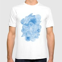 Ocean Breeze Mens Fitted Tee White SMALL