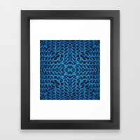 Knit Reflection Framed Art Print