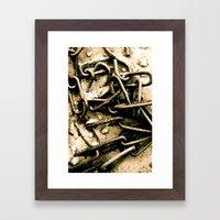 Chains in the garden sand Framed Art Print