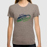 Re-Pete Seahawks! Womens Fitted Tee Tri-Coffee SMALL